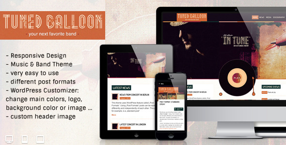 Tuned Balloon – Music WordPress Theme