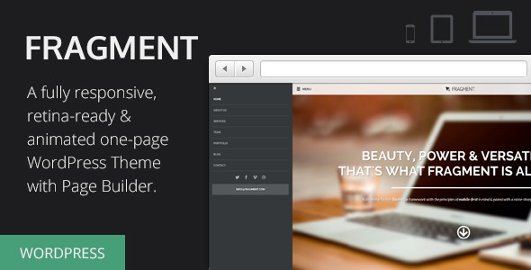 Fragment – Responsive One Page WordPress Theme