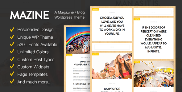 Mazine: Magazine / Blog WordPress Theme