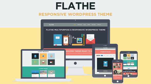 FLATHE – Responsive Flat WordPress Theme