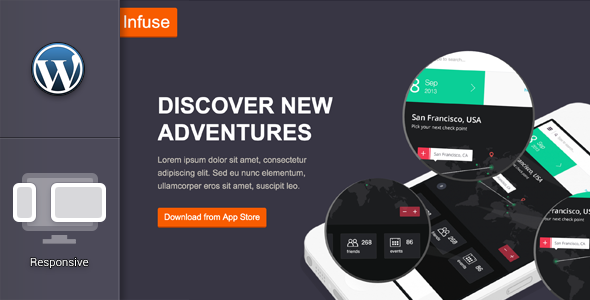 Infuse – Responsive Mobile App Landing Website