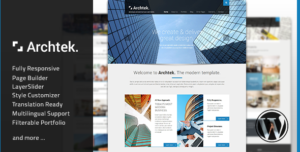 Archtek – Responsive Modern WordPress Theme