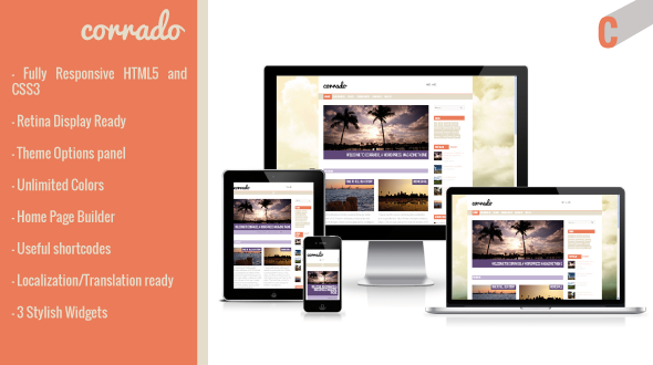 Corrado – Responsive Magazine WordPress Theme