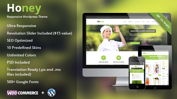 Honey | Responsive Multipurpose Theme