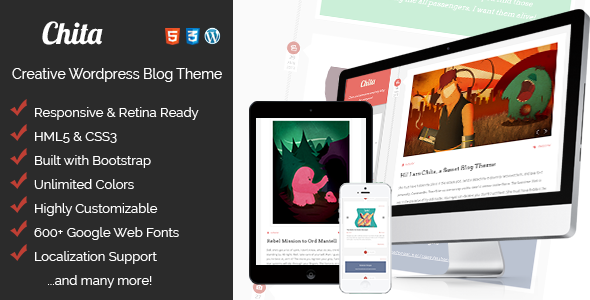 Chita – Creative & Tasty, Retina Ready Blog Theme
