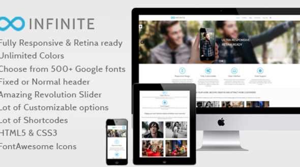 Infinite – Responsive Multipurpose WordPress Theme