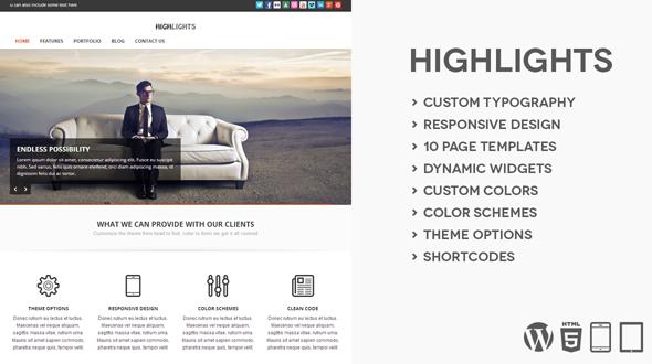 Highlights A Multipurpose WordPress Theme