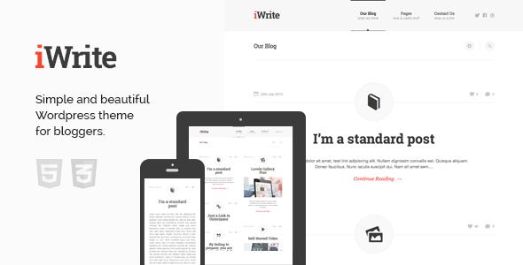 iWrite – Minimal Responsive Blogging Theme