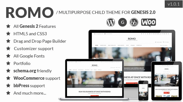 Romo – Multipurpose Child Theme for Genesis 2.0
