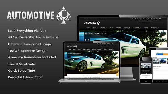Automotive Ace – Responsive Car Dealership Theme