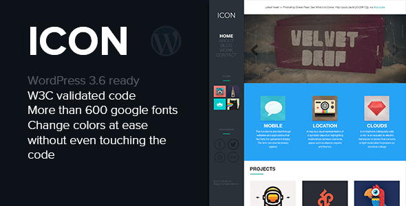 Icon – Responsive Blog & Portfolio WordPress Theme