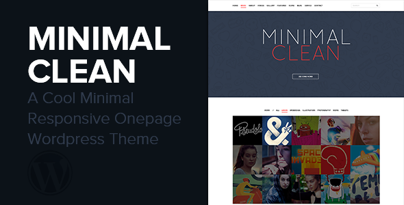 Minimal Clean – A Cool Onepage WordPress Theme