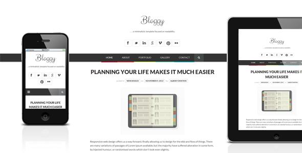 Bloggy WP – Responsive Minimalist Theme