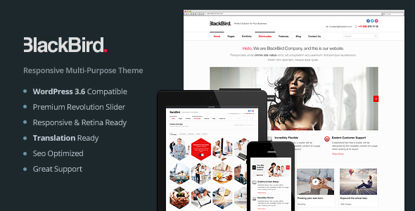 BlackBird | Responsive Multi-Purpose Theme