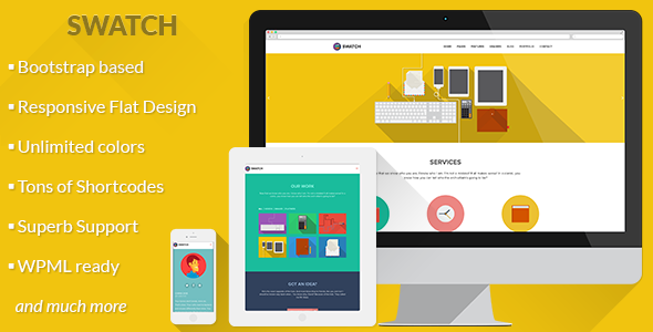 Swatch – Flat Responsive Multi-Purpose WP Theme