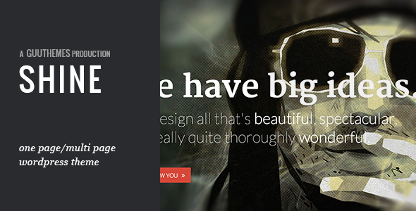 SHINE – Responsive Portfolio WordPress Theme