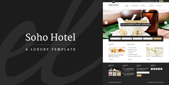 Soho Hotel – Responsive Hotel Booking WP Theme