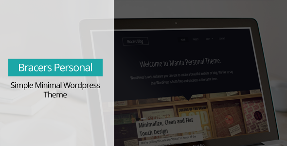 Bracers Personal – Minimal Blog WordPress Theme