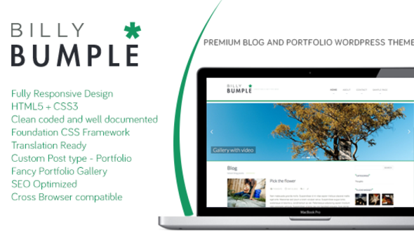 Bumple Blog & Portfolio WordPress Theme