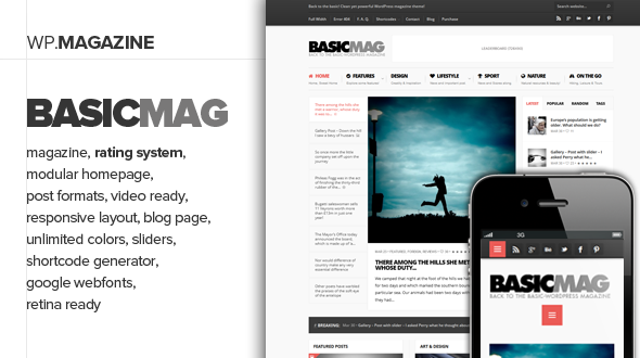 BasicMag – Responsive Rating Magazine Theme