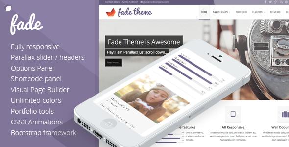 Fade – Responsive, Parallax Bootstrap Theme