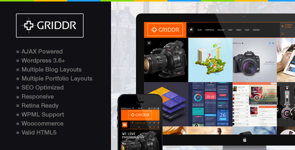 Griddr – A Creative, Interactive WordPress Theme