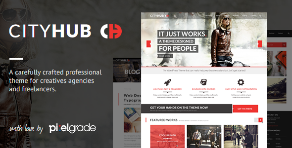 CityHub: Responsive Agency & Blog WordPress Theme