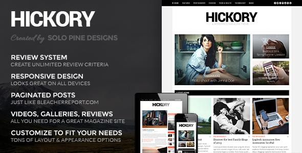 Hickory – A WordPress Magazine Theme