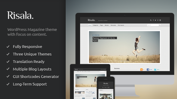 Risala – Responsive Magazine/Blog WordPress Theme