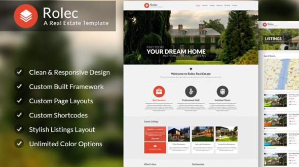 Rolec – Responsive Real estate Business WordPress Theme