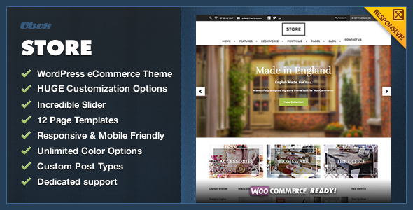 Store – eCommerce WordPress Theme
