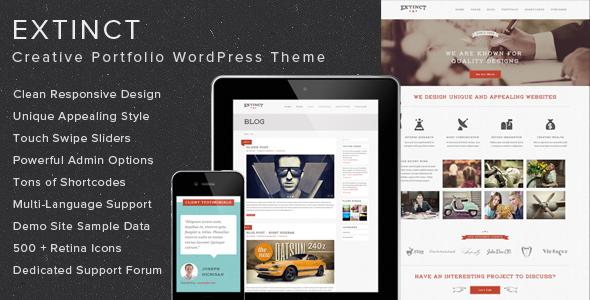 Extinct – Creative Portfolio WordPress Theme