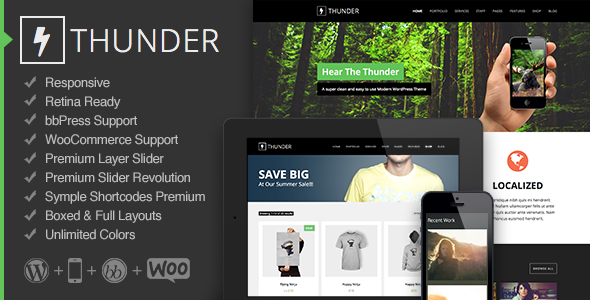 Thunder – Responsive Multi-Purpose Theme