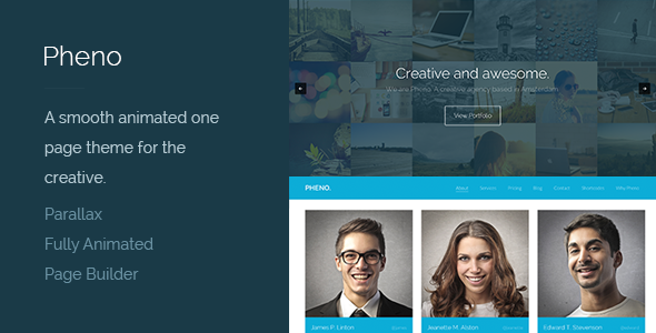 Pheno – One Page Parallax WordPress Theme