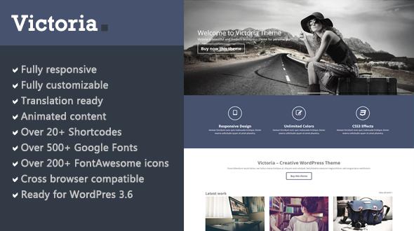 Victoria – Responsive Multipurpose WordPress Theme