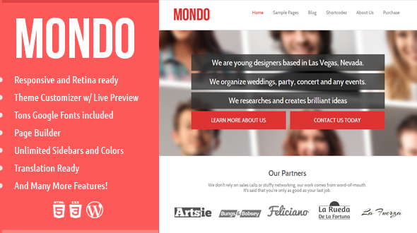 Mondo – Responsive WordPress Theme