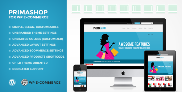 PrimaShop For WP Ecommerce (WPEC) WordPress Theme