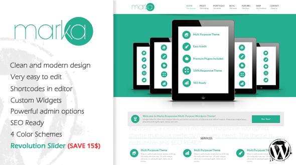 Marka – Responsive Multipurpose WordPress Theme