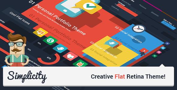 Simplicity – Creative Flat Retina Theme