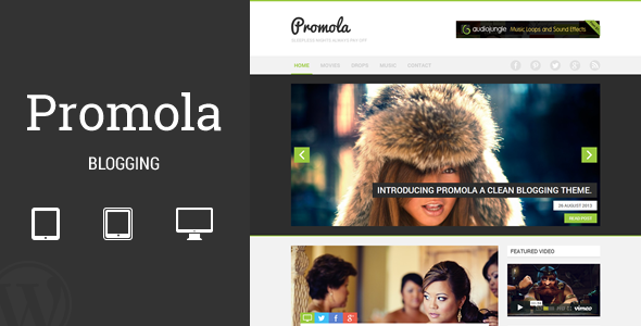 Promola Blogging Theme