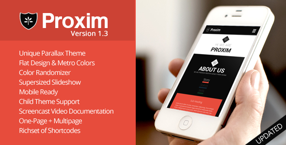 PROXIM – WordPress Unique One-page Parallax Theme