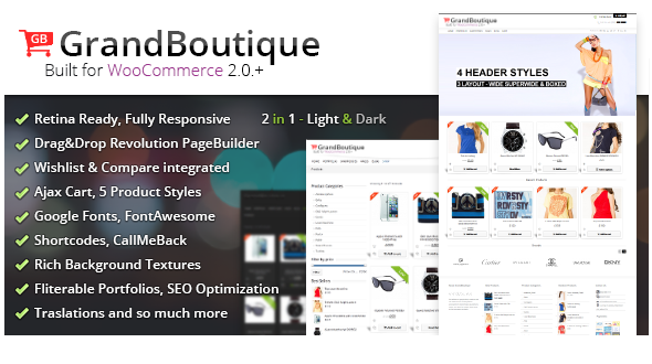 GrandBoutique – Multi-Purpose Shop Theme