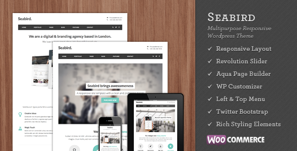 Seabird – Multipurpose Responsive WordPress Theme