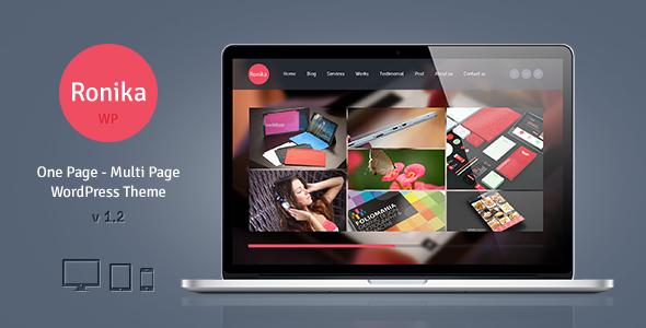 Ronika – One Page/Multi Page WordPress Theme