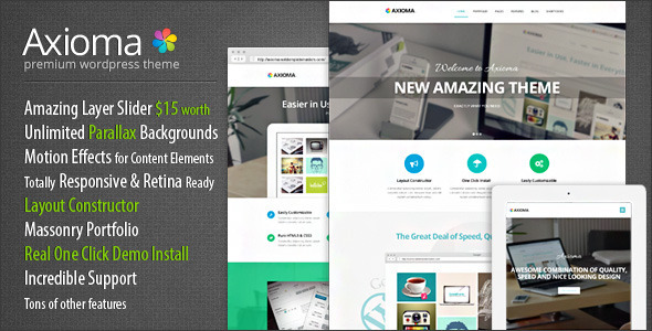 Axioma Premium Responsive WordPress Theme