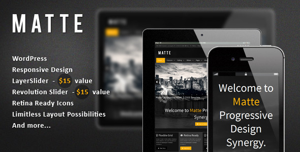 Matte – Responsive WordPress Theme