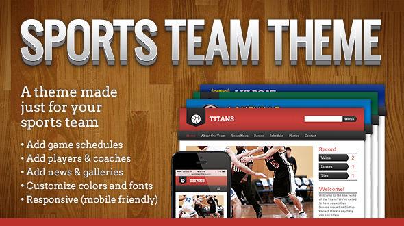 Sports Team Theme