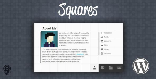 Squares – HTML5 vCard/Portfolio WordPress Theme