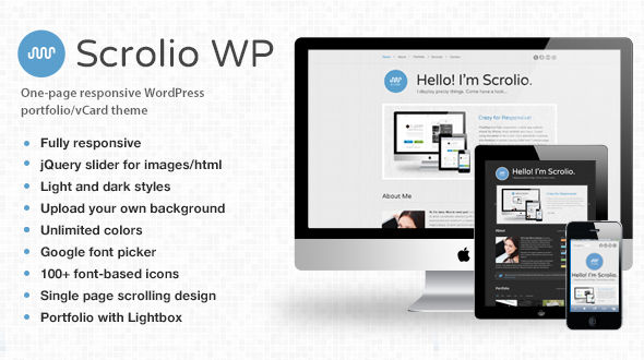 Scrolio – Responsive Portfolio WordPress Theme
