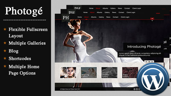 Photogé: Portfolio and Photography Theme